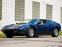 1974 Maserati Bora = 285 км/ч. 330 л.с. 6.7 сек.