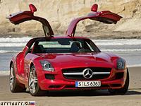 2009 Mercedes-Benz SLS AMG = 317 км/ч. 571 л.с. 3.8 сек.