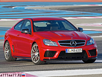 2012 Mercedes-Benz C 63 AMG Coupe Black Series = 300 км/ч. 517 л.с. 4.1 сек.