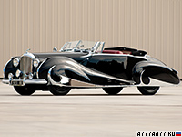 1947 Bentley Mark VI Drophead Coupe by Franay = 161 км/ч. 126 л.с. 15 сек.