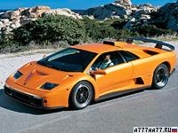 1999 Lamborghini Diablo GT = 338 км/ч. 575 л.с. 3.8 сек.