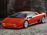 1990 Lamborghini Diablo = 325 км/ч. 492 л.с. 4.1 сек.