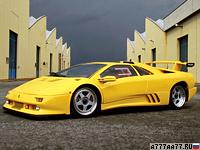 1994 Lamborghini Diablo SE30 Jota = 340 км/ч. 595 л.с. 3.9 сек.
