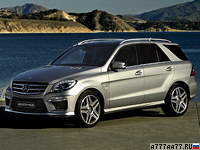 2012 Mercedes-Benz ML 63 AMG Performance Package = 280 км/ч. 557 л.с. 4.7 сек.