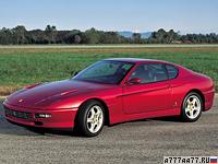 1992 Ferrari 456 GT = 302 км/ч. 442 л.с. 5.2 сек.