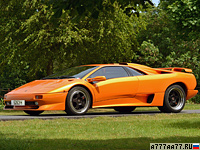 1995 Lamborghini Diablo SV = 328 км/ч. 510 л.с. 3.9 сек.