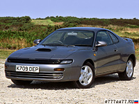 1989 Toyota Celica GT-Four (ST185) generation V = 230 км/ч. 204 л.с. 7.9 сек.
