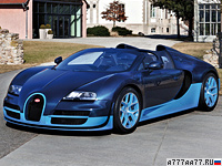 2012 Bugatti Veyron Grand Sport Vitesse = 410 км/ч. 1200 л.с. 2.6 сек.