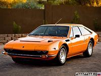 1972 Lamborghini Jarama 400 GTS = 262 км/ч. 365 л.с. 5.3 сек.