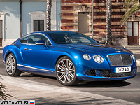 2012 Bentley Continental GT Speed = 329 км/ч. 625 л.с. 4.2 сек.