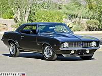 1969 Chevrolet Camaro ZL-1 = 215 км/ч. 430 л.с. 5.5 сек.