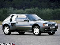 1984 Peugeot 205 Turbo 16 = 212 км/ч. 200 л.с. 6.8 сек.