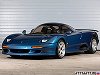 1990 Jaguar XJR-15 = 307 км/ч. 450 л.с. 3.9 сек.