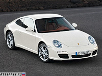 2008 Porsche 911 Carrera Coupe (997) = 290 км/ч. 345 л.с. 4.7 сек.