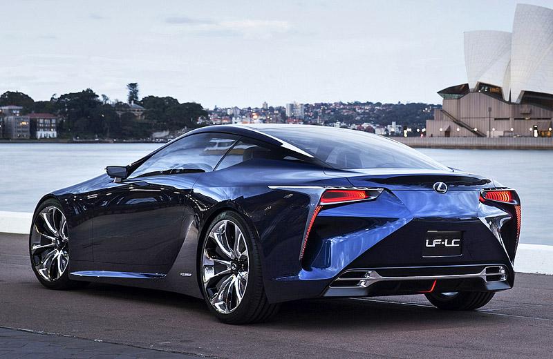 Lexus LF-LC Blue Concept - острый японский дизайн