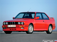 1986 BMW M3 Coupe (E30) = 235 км/ч. 200 л.с. 6.7 сек.