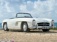 1957 Mercedes-Benz 300 SL Roadster (R198) = 211 км/ч. 212 л.с. 7.6 сек.