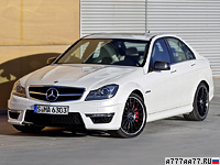 2011 Mercedes-Benz C 63 AMG Performance Package (W204) = 250 км/ч. 487 л.с. 4.4 сек.