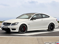 2011 Mercedes-Benz C 63 AMG Coupe Performance Package (C204) = 250 км/ч. 487 л.с. 4.4 сек.