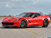 2014 Chevrolet Corvette Stingray Hennessey HPE700 Twin Turbo = 338 км/ч. 708 л.с. 2.9 сек.