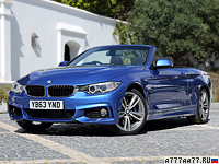 2013 BMW 435i Cabrio M Sport Package (F33) = 250 км/ч. 306 л.с. 5.6 сек.