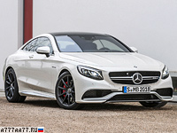 2014 Mercedes-Benz S 63 AMG Coupe 4Matic (C217) = 250 км/ч. 585 л.с. 3.9 сек.