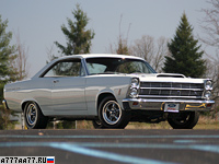 1966 Ford Fairlane 500 Hardtop Coupe 427 R-code = 206 км/ч. 425 л.с. 5.2 сек.