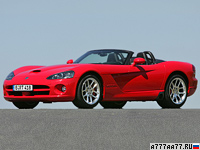 2003 Dodge Viper SRT10 Convertible = 311 км/ч. 507 л.с. 4.1 сек.