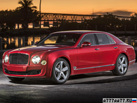 2015 Bentley Mulsanne Speed = 305 км/ч. 537 л.с. 4.9 сек.