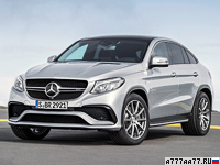 2015 Mercedes-AMG GLE 63 S Coupe 4Matic (C292) = 250 км/ч. 585 л.с. 4.2 сек.