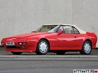 1988 Aston Martin V8 Volante Zagato = 260 км/ч. 309 л.с. 6 сек.
