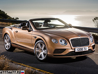 2015 Bentley Continental GT Convertible = 315 км/ч. 590 л.с. 4.7 сек.