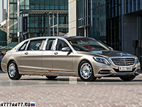 2016 Mercedes-Maybach S 600 Pullman = 210 км/ч. 530 л.с. 6.5 сек.