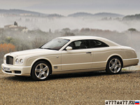 2008 Bentley Brooklands = 296 км/ч. 537 л.с. 5.3 сек.