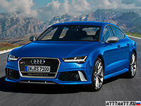 2016 Audi RS7 Performance = 305 км/ч. 605 л.с. 3.7 сек.