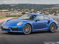 2016 Porsche 911 Turbo Coupe (991.2) = 320 км/ч. 540 л.с. 3 сек.