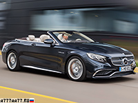 2017 Mercedes-AMG S 65 Cabriolet (A217) = 300 км/ч. 630 л.с. 4.1 сек.