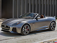 2017 Jaguar F-Type SVR Convertible = 314 км/ч. 575 л.с. 3.7 сек.