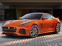 2017 Jaguar F-Type SVR Coupe = 322 км/ч. 575 л.с. 3.7 сек.