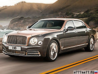 2017 Bentley Mulsanne Extended Wheelbase = 296 км/ч. 512 л.с. 5.5 сек.