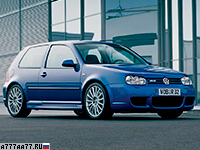 2002 Volkswagen Golf R32 (Typ 1J) = 247 км/ч. 241 л.с. 6.6 сек.
