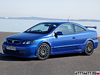 2002 Vauxhall Astra Coupe 888 Turbo = 245 км/ч. 200 л.с. 7.4 сек.