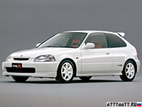 1997 Honda Civic Type-R = 235 км/ч. 185 л.с. 6.8 сек.