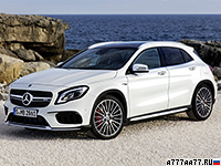 2017 Mercedes-AMG GLA 45 4Matic (X156) = 250 км/ч. 381 л.с. 4.4 сек.