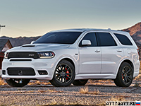2018 Dodge Durango SRT (WD) = 250 км/ч. 481 л.с. 4.7 сек.
