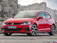 2017 Volkswagen Golf GTI Performance = 250 км/ч. 245 л.с. 6.2 сек.