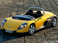 1995 Renault Sport Spider = 210 км/ч. 150 л.с. 6.5 сек.
