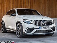 2017 Mercedes-AMG GLC 63 S Coupe 4Matic+ (C253) = 250 км/ч. 510 л.с. 3.8 сек.