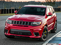 2018 Jeep Grand Cherokee Trackhawk = 290 км/ч. 717 л.с. 3.7 сек.