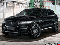2017 Jaguar F-Pace S Widebody Hamann = 250 км/ч. 410 л.с. 4.9 сек.